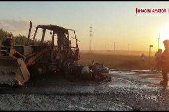 Accident oribil, lângă Constanţa, după ce un excavator a lovit o motocicletă