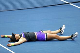 Momentul victoriei Biancăi Andreescu. Cum a reacţionat după ce a învins-o pe Serena