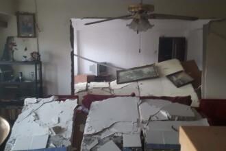 Explozie uriaşă, într-un bloc din Piteşti. Două apartamente au fost distruse
