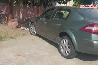S-a urcat băut la volan și a ajuns cu mașina în gardul unei gospodării