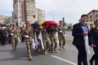 Militarul care şi-a pierdut viaţa în mod eroic, în urma unui atentat din Afganistan a fost înmormântat