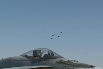 """Spațiul aerian românesc, apărat cu supersonice canadiene: """"Misiunea furnizează descurajare"""""""