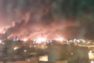 Atac cu drone. Incendiu uriaș la instalaţii petroliere ale gigantului saudit Aramco