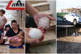 Furtuni și grindină cât pumnul în Spania. Țara, devastată de inundații