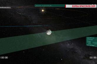 Momentul în care un asteroid uriaș ajunge foarte aproape de Pământ