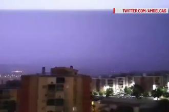 Regiunea din Spania în care s-au înregistrat 5.000 de fulgere în doar câteva ore