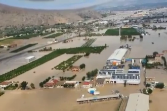 Urmările inundațiilor devastatoare din Spania. Armată și elicoptere, în ajutorul populației