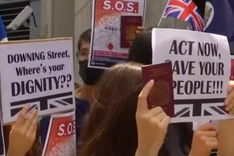 """Violențe la Hong Kong. Manifestanții au cântat """"God Save the Queen"""" și au cerut ajutor"""