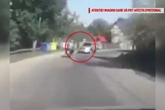 Trei bărbați, la un pas de tragedie. S-au urcat pe un scuter cu sticla de alcool în mână
