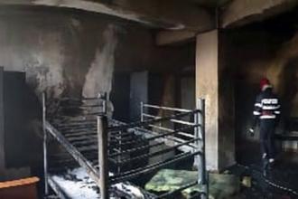 Incendiu la o cantină de ajutor social. De la ce au izbucnit flăcările
