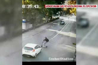 O tânără care circula cu trotineta electrică, rănită într-o intersecție, în Cluj