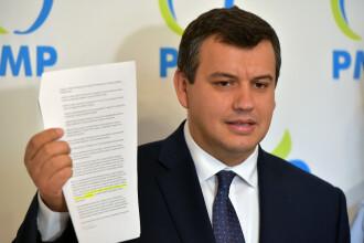 PMP anunță că a semnat moțiunea de cenzură, dar are o condiție: înființarea unui minister