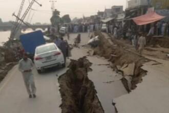Cutremur puternic în Pakistan: drumuri surpate, clădiri prăbușite, peste 300 de victime
