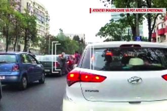 Bărbatul care l-a lovit pe pasagerul mașinii oprite la semafor, arestat pentru 30 de zile
