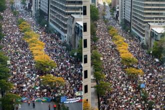 Cea mai mare manifestaţie din istoria Quebecului: 500.000 în stradă, pentru climă