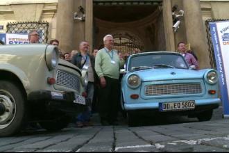 """Praga, """"invadată"""" de mașini din perioada comunistă. """"Acum ori niciodată, avem ocazia să plecăm"""""""