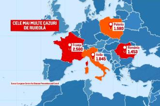 Suntem pe 4 în Europa la numărul cazurilor de rujeolă. Sunt încă părinți care refuză vaccinarea