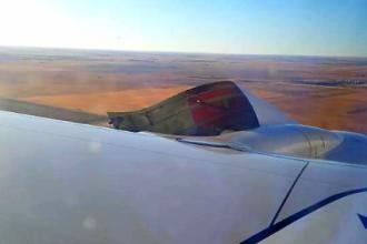Imagini terifiante: cum a fost surprinsă aripa unui avion de pasageri, în timpul zborului