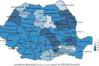Raport Covid-19 săptămâna 24-30 august: Trend ascendent în 10 judeţe şi Bucureşti
