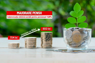 Pensionarii primesc bani în plus începând de azi. Cu cât a crescut punctul de pensie