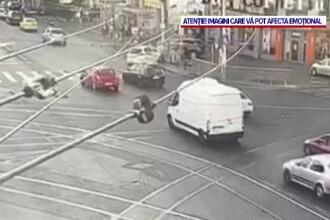 Un băiat de 14 ani a furat o mașină electrică și a lovit 2 tinere. Spune că a găsit cheile în contact