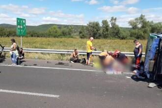Accident grav pe autostrada A1 Deva - Nădlac. O femeie însărcinată şi-a pierdut viaţa