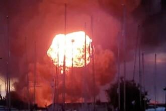 """Explozii puternice într-o zonă industrială din Anglia. """"Sticle de gaz au sărit zeci de metri în aer"""""""