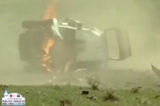 Accident șocant la Raliul Iașiului. Simone Tempestini s-a răsturnat de șase ori cu mașina