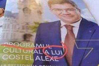 Greşeli impardonabile pe coperta pliantului cu care ministrul Alexe promovează cultura