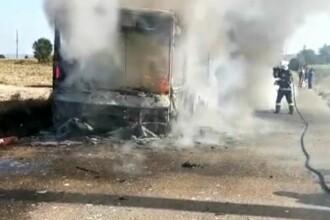 Autobuz cu călători în flăcări, la Suceava. De unde a pornit focul