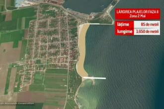 Stațiunile care vor avea plaje lărgite. Vom câştiga peste 200 de hectare de nisip