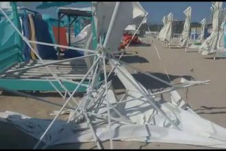 Pagube importante pe litoral, după ce vijelia a făcut ravagii. Vântul a atins până la 70 km/h