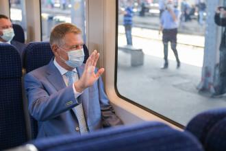 FOTO. Președintele și premierul României au testat trenul de la Gara de Nord la Otopeni