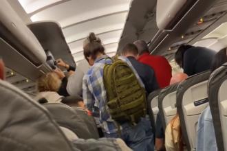 Imagini uimitoare într-un avion, pe ruta Frankfurt - Otopeni.