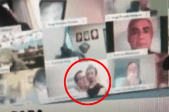 VIDEO. Un deputat argentinian a început să își pipăie soția în timpul unei sesiuni parlamentare online