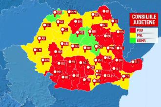 Rezultate finale alegeri locale 2020. Cum sunt împărțite primăriile din România, politic, în procente