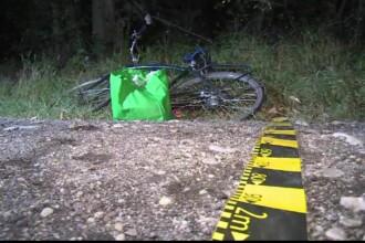Biciclist din Dâmbovița, rănit într-un accident neobișnuit
