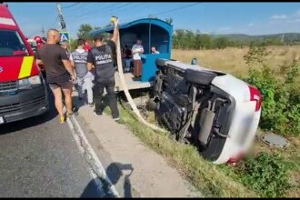 Accident în lanț în Argeș. O femeie de 35 de ani, la spital, iar alte șase persoane au avut nevoie de îngrijiri medicale