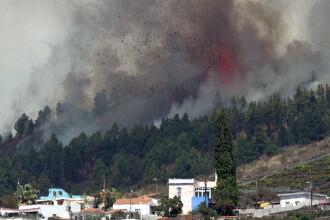 Cele șapte zboruri programate pe insula La Palma, anulate pentru prima dată din cauza vulcanului Cumbre Vieja