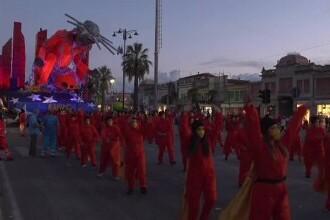 Carnavalul Viareggio a animat străzile din Toscana. Evenimentul este renumit pentru temele sale satirice