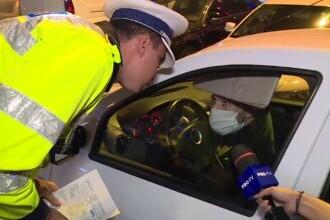 """Dialog polițist - șofer în București: """"Buletin și permis. Nu există. Cum adică nu există? Doesn't exist"""""""