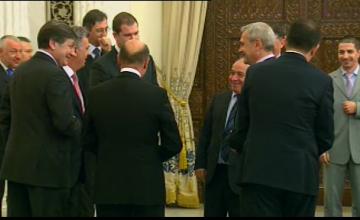 Basescu, Ponta si Antonescu au discutat amical, dupa ce Cazanciuc a depus juramantul