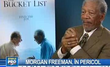 Morgan Freeman are numeroase fracturi, dar este lucid