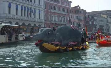 Apariții inedite la parada ambarcațiunilor din cadrul Carnavalului de la Veneția