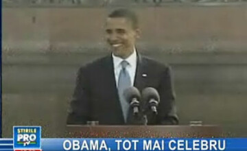 Obama, o vedetă la fel ca Britney Spears şi Paris Hilton