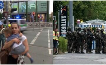 Atac armat la Munchen: 9 morti si 21 de raniti. Politia germana: Atacatorul a actionat singur si s-a sinucis
