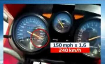 VIDEO. Teribilisti pe doua roti: filmari cu 240km/ora si scheme mortale