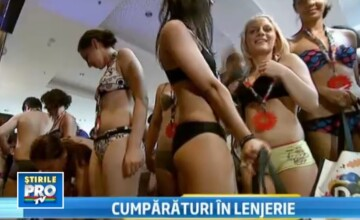 Goana dupa haine in pielea goala. 100 de tineri dezbracati, intr-un mall din Bucuresti. VIDEO