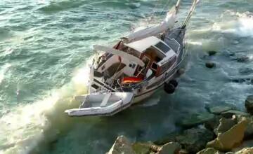 Aventura neamtului al carui iaht a esuat in Marea Neagra: Romanii m-au alungat in mijlocul furtunii