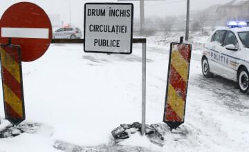INFOTRAFIC: Se circulă în condiţii de iarnă, 9 drumuri judeţene sunt încă închise
